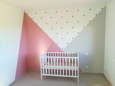 Baby room paint girl new ideas Baby Room Decor, Nursery Room, Boy Room, Bedroom Decor, Bedroom Colors, Bedroom Ideas, Bedroom Wall Designs, Kids Room Paint, Little Girl Rooms
