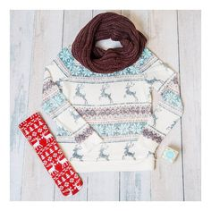 Today's weather has me layering on all things#snowflakes #reindeer #scarves #liveastylishlife