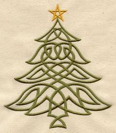Celtic Christmas Tree- supposed to be embroidery, but, could easily be done in paint or even bleach pen-art