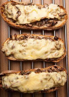 Polish Zapiekanka baked - mushroom toast