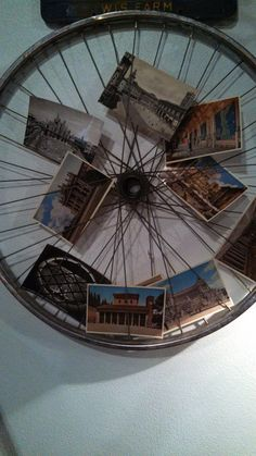 i will be looking for an old bike wheel...