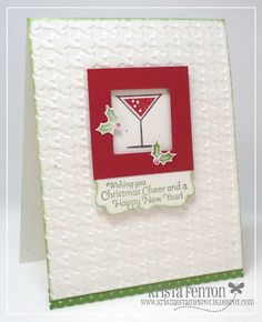 Krista's Stamp Spot: Happy Hour Christmas Card