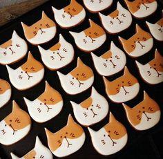 Cute cat face cookies