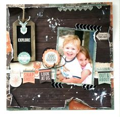 Outdoor Trail Happy Snaps & Scraps: My Kaisercraft Design Team Projects for August Scrapbook Blog, Kids Scrapbook, Mini Scrapbook Albums, Scrapbooking Layouts, Mini Albums, Adventure Time, Trail, Projects To Try, Card Making
