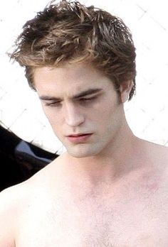 Rob on the set of New Moon
