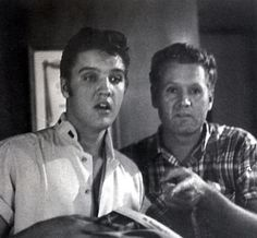 {*Elvis & his dad Vernon*}