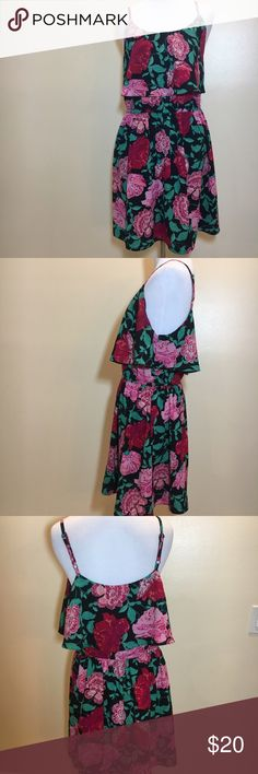 Elle Floral Dress Beautiful tiered dress, worn twice, fits like a dream. Like new condition. Elle Dresses
