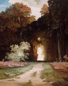 by Viktor Bykov Fantasy Landscape, Landscape Art, Landscape Paintings, Fantasy Art, Russian Landscape, Landscapes, Environment Concept Art, Environment Design, Animation Background