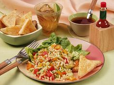 Spicy Gazpacho Pasta Salad plus over more TABASCO® recipes perfect for menu planning and everyday meals. Pasta Salad Recipes, Healthy Salad Recipes, Orzo Salad, Daily Meals, Healthy Cooking, Healthy Food, Yummy Food, Spicy, Favorite Recipes