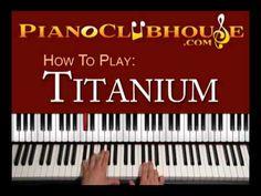 TITANIUM - David Guetta - easy piano lesson / tutorial / lyrics ♫
