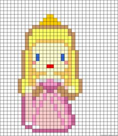 Disney Aurora Sleeping Beauty perler bead pattern