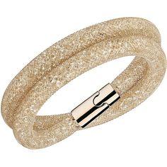 Swarovski Stardust Deluxe Bracelet ($99) ❤ liked on Polyvore featuring jewelry, bracelets, accessories, joias, polish jewelry, swarovski jewellery, swarovski bangle, sparkle jewelry and wrap bracelet
