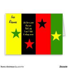#Rasta #christmas greeting card