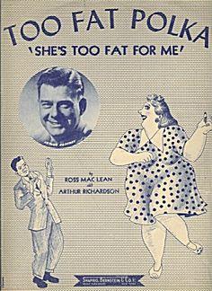 Too Fat Polka; 1956 sheet music