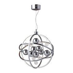 LUSTRA SUSPENDATA DIN METAL CU LED GLOBE Globe Pendant, Lorem Ipsum, Chrome, Chandelier, Ceiling Lights, Led, Interior Design, Lighting, Metal