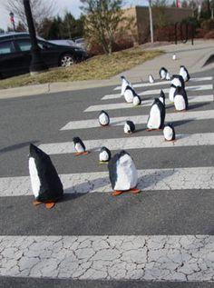 papier mache penguins | www.smallhandsbigart.com/blog #papier mache #penguins #winter crafts #art projects for kids