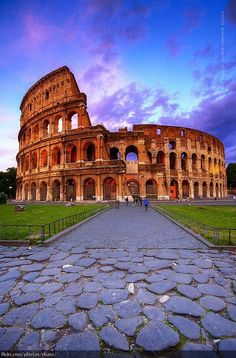Rome, Italy - the famous colosseum. and let's not forget, the food.. not pictured here;)