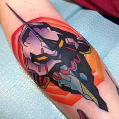 regram @beardedgentleman Made the Neon Genesis tattoo for @paulgandersman thanks dude! #neongenesis #evangelion #unit01 #atfield #anime #animetattoos #tattoos