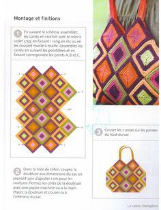 Free Crochet Bag Patterns Part 14 - Beautiful Crochet Patterns and Knitting Patterns Free Crochet Bag, Crochet Diy, Crochet Bags, Crochet Handbags, Crochet Purses, Crochet Dish Towels, Knitting Patterns, Crochet Patterns, Bag Patterns