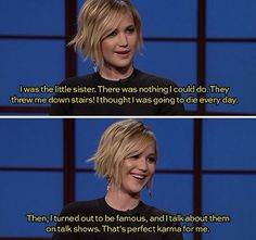 Funny pictures about Jennifer Lawrence Karma. Oh, and cool pics about Jennifer Lawrence Karma. Also, Jennifer Lawrence Karma photos. Jennifer Lawrence Funny, Jenifer Lawrence, J Law, Juegos Del Ambre, Ft Tumblr, Hunger Games Cast, Tribute Von Panem, Fandoms, Marcus Butler