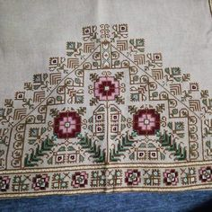 Cross Stitches, Cross Stitch Patterns, Palestinian Embroidery, Elsa, Bohemian Rug, Fabrics, Crochet, Summer, Kids