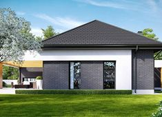 Projekt domu HomeKoncept-27 136,58 m² - koszt budowy - EXTRADOM Beautiful House Plans, Beautiful Homes, Modern Family House, Family Room Addition, Modern Style Homes, Contemporary House Plans, Small House Design, House Extensions, Facade House