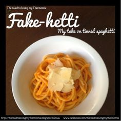 The road to loving my Thermomix: Fake-hetti: my take on tinned spaghetti
