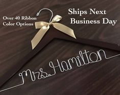 Ships Next Day Wedding hanger Priority mail option wedding Bride Hanger, Wedding Dress Hanger, Wedding Hangers, Name Hangers, Wooden Hangers, Bridal Gifts, Wedding Gifts, Personalized Wedding, Bridesmaid Gifts