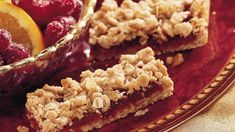 Cranberry Crumble Bars recipe and reviews - Pick cranberry bars for a colourful addition to a cookie tray and because they are so easy to make.