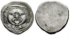 ETRURIA, Populonia. After 211 BC. AR 20 Asses . Gorgoneion facing