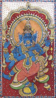 Indian Painting Styles...Kalamkari Paintings (Andhra Pradesh)-ganesh.jpg