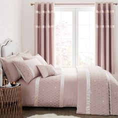 Catherine Lansfield Sequin Cluster Blush Duvet Cover and Pillowcase Set Bed Sets, Duvet Sets, Duvet Cover Sets, Luxury Duvet Covers, Bed Duvet Covers, Pillow Shams, Pillow Cases, Luxury Bedding, Modern Bedding
