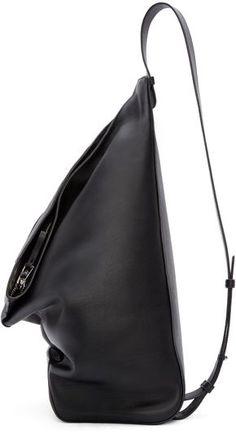0cea0a3ffe7ff1 Loewe Black Leather Crossbody Backpack Tote Handbags, Leather Crossbody  Handbags, Designer Leather Handbags,