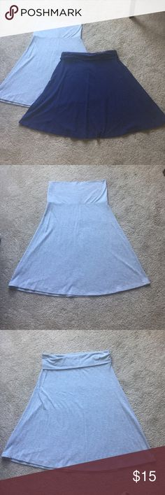 Set of two casual fold over skirts Grey fold over skirt from old navy. Navy blue fold over skirt from gap. Gap skirt have permanent fold at the waist, while grey can be worn multiple ways. Both size medium Old Navy Skirts Skirt Sets