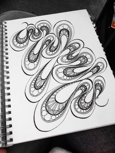 Weak In the Knees doodle art by Heidi Denney sharpie drawing abstract pen and ink