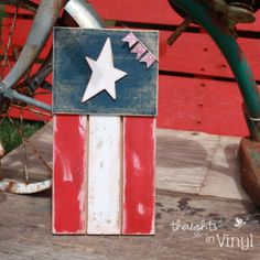 Finished Whimsical wooden flag