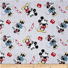 Disney Mickey and Minnie Vintage Toss Red