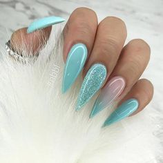 50 Incredible Ombre Nail Designs That Will Look Amazing In Every Season - Nails - Nageldesign Ombre Nail Designs, Nail Art Designs, Cute Nails, Pretty Nails, Ongles Bling Bling, Glamour Nails, Stiletto Nail Art, Best Acrylic Nails, Dream Nails