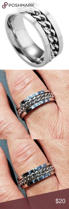 Mens stainless steel wedding ring, mens ring This is a brand new mens wedding band.  This is a boutique item.  It is made out of stainless steel.  It is 8 mm wide.  #mensweddingring #stainlesssteeljewelry #mensring #blackring #silverring #goldring #engagementring #weddingring #weddingband #mesfashion #mensaccessory #menssuit #stainlessjewelry #stainlessring Accessories Jewelry