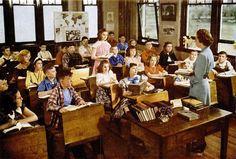 #vintage #1940s #classroom #school #teacher #students
