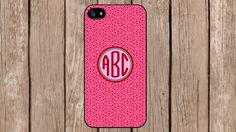 Personalized Monogram Oriental Pink Pattern case for iPhone 4/4s/5/5s/5c Samsung Galaxy S3/S4/S5/Note 2/Note 3 by TopCraftCase, $6.99