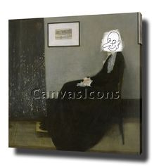 MR BEAN WHISTLERS MOTHER CANVAS PRINT POSTER PHOTO WALL ART