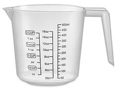 16 Oz. Clear Color Plastic Graduated Measuring Cup Pack Of 2- A Handy Kitchen Tool That Really Measures Up! Use This Plastic Measuring Cup To Measure Cups, Ounces, Pints Or Ml. - By Kitch N' Wares ** Click image to review more details.
