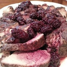 Pork tenderloin slow cooks for hours in blackberry sauce, then gets a flavorful red wine and blackberry topping for a savory-sweet dish that tastes fancy but is so easy to make. Crock Pot Slow Cooker, Slow Cooker Recipes, Crockpot Recipes, Cooking Recipes, Healthy Recipes, Pork Tenderloin Recipes, Pork Recipes, Pork Chops, Classic Peanut Butter Cookies