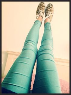 i got me those jeans and a variation of those shoes ( a leopard ballet flats not sneaks)
