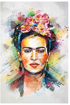 Frida Kahlo by Tracie Andrews (Giclee Canvas). #art #artlovers #fridakahlo #artwork #artist