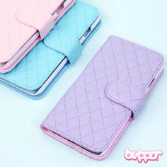 Pastel Leather Flip Case for iPhone 6 - Matte