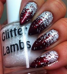 SnowBall: Christmas Glitter Topper Nail by GlitterLambsPolish