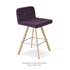 Lara Sword is a contemporary bar and counter stool with a comfortable upholstered seat and backrest. #SohoConcept #BarStool #CounterStool #SohoConceptTeam Available at allmodernoutlet.com  http://www.allmodernoutlet.com/soho-concept-lara-sword-stool/
