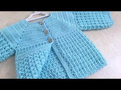 Tığ işi Kolay Model Bebek Ceketi/Kız Bebek ve Erkek Bebek için Hırka/6 ay için - YouTube Pattern Baby, Crochet Vest Pattern, Easy Crochet Patterns, Baby Knitting Patterns, Crochet Designs, Baby Patterns, Hand Knitting, Knit Crochet, Cardigan Bebe